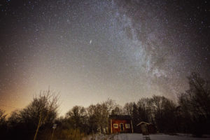 Milky way at night over Erken