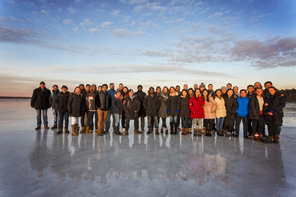EACH Winter School 2017, Group photo on Lake Erken