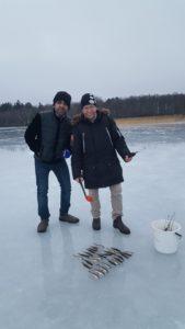 Sadakat and Jonas with the catch
