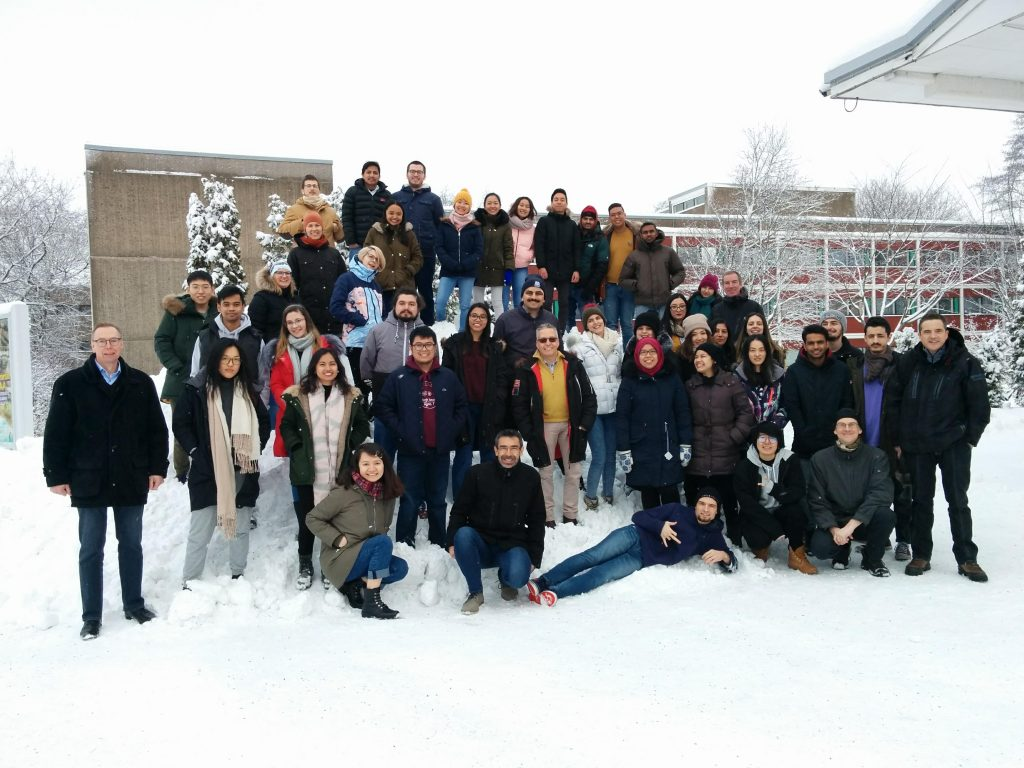 Group photo of the EACH Winter school 2019 (Hotel Caribia, Åbo/Turku)